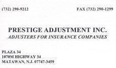 Prestige Adjustment Inc.